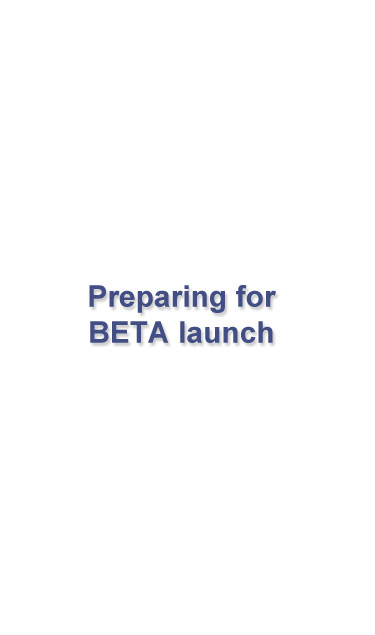 screen showing beta launch of Coovy