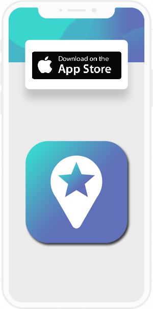 Image with a mobile app screen displaying coovy influencer app icon